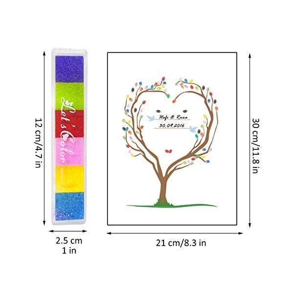 Tumao ウェディングツリー ゲストブック 指紋ツリー DIY ウェルカムボード 結婚式 キャンバス アートパネル イン wejectstore 02