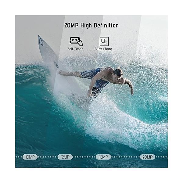 Andoer 4K WiFi スポーツカメラ アクションカメラ 1080P Full HD 20MP Novatek 96660 2.31インチ タッチスクリーン 防振 5倍ズ