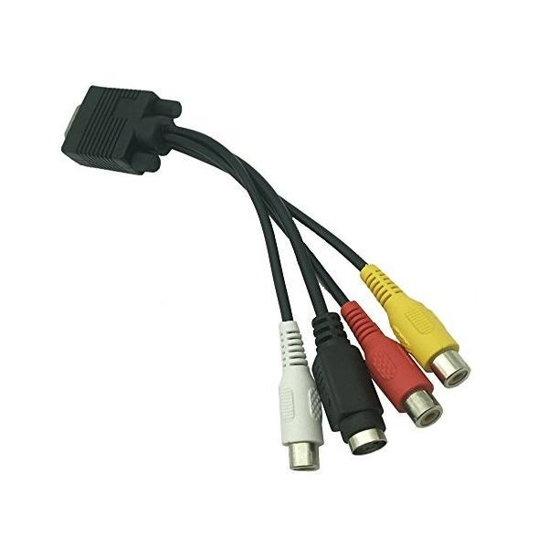 Like-You VGAからRCAケーブル、RTXLEAD VGA から TV Sビデオ 3 RCA PC コンピュータ AV アダプタケーブル