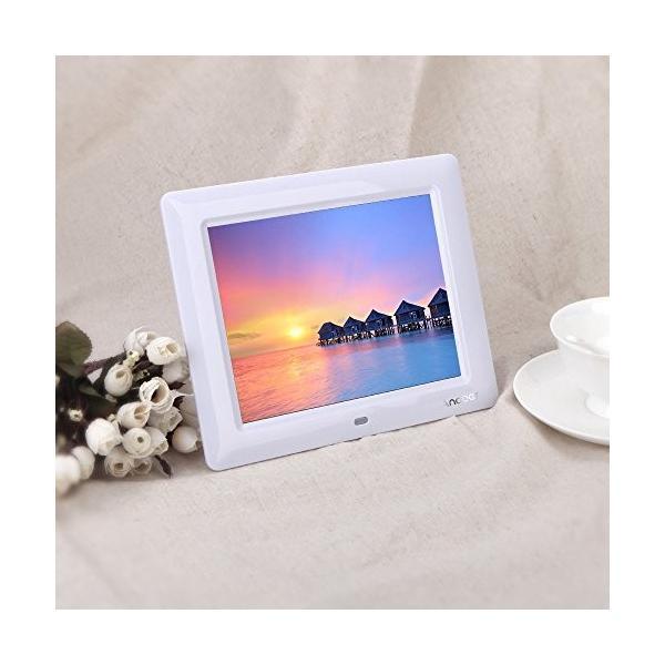 Andoer HD TFT-LCD デジタルフォトフレーム 解像度480*800 カレンダー・時計機能付き Digital Photo Frame Alarm Clock MP3 MP4 Movi