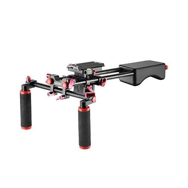 Neewer ポータブルなカメラムービービデオ作成システム(赤) セット内容:カメラ/ビデオカメラマウントスラ