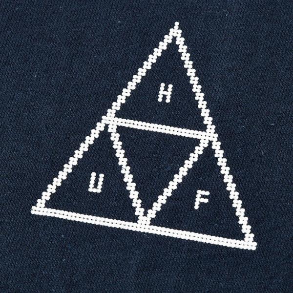 在庫処分 huf ハフ tシャツ beaded triple triangle tee メンズ 半袖 綿