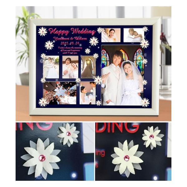 結婚式の写真のプレゼント 結婚記念 飾る結婚式アルバム A4サイズ ラブサンクチュアリ・プレミアム|welcomeboard-glitter