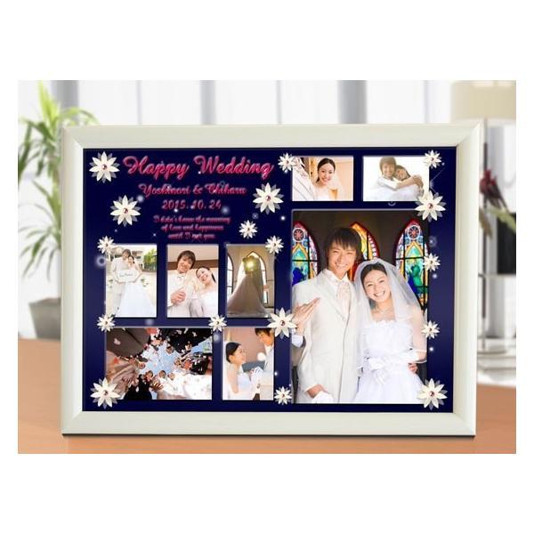 結婚式の写真のプレゼント 結婚記念 飾る結婚式アルバム A4サイズ ラブサンクチュアリ・プレミアム|welcomeboard-glitter|02