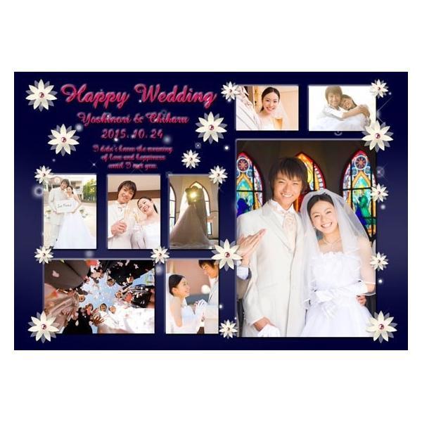 結婚式の写真のプレゼント 結婚記念 飾る結婚式アルバム A4サイズ ラブサンクチュアリ・プレミアム|welcomeboard-glitter|05
