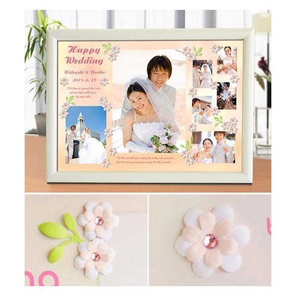 結婚式の写真のプレゼント 結婚記念 飾る結婚式アルバム A4サイズ ラブリーウェディング・プレミアム|welcomeboard-glitter