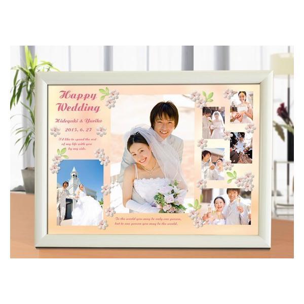 結婚式の写真のプレゼント 結婚記念 飾る結婚式アルバム A4サイズ ラブリーウェディング・プレミアム|welcomeboard-glitter|02