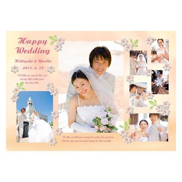 結婚式の写真のプレゼント 結婚記念 飾る結婚式アルバム A4サイズ ラブリーウェディング・プレミアム|welcomeboard-glitter|05