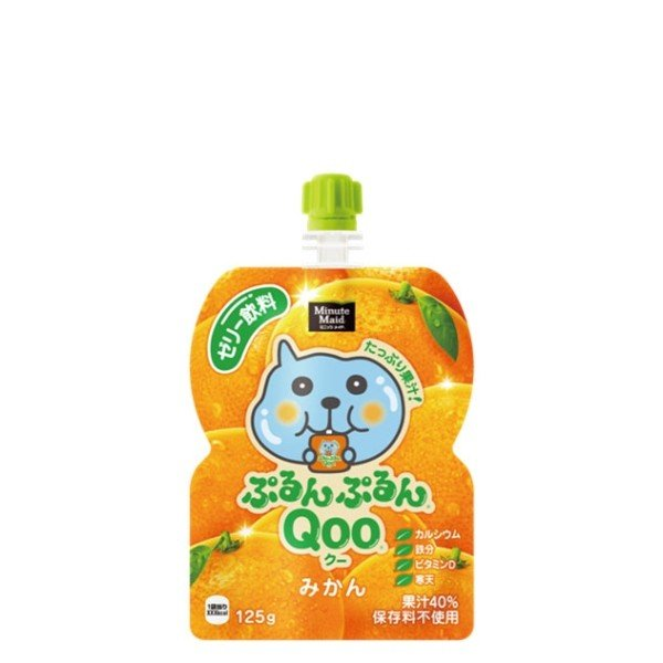 『4ケースセット』ミニッツメイドぷるんぷるんQooみかん125gパウチ 30パック入×4ケース