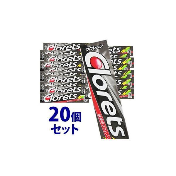 《セット販売》 モンデリーズ クロレッツXP シャープミント 粒 (14粒)×20個セット シュガーレス粒ガム Clorets ※軽減税率対象商品
