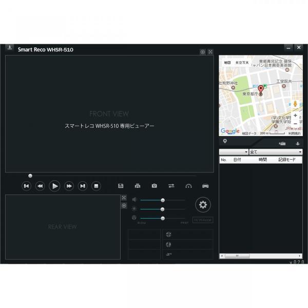 TCL ドライブレコーダー スマートレコ WHSR-510 黒色 駐車監視 タッチパネル フルHD 音声案内 16GBmicroSDカード付 前後カメラ GPS オプション対応|wh-town|03
