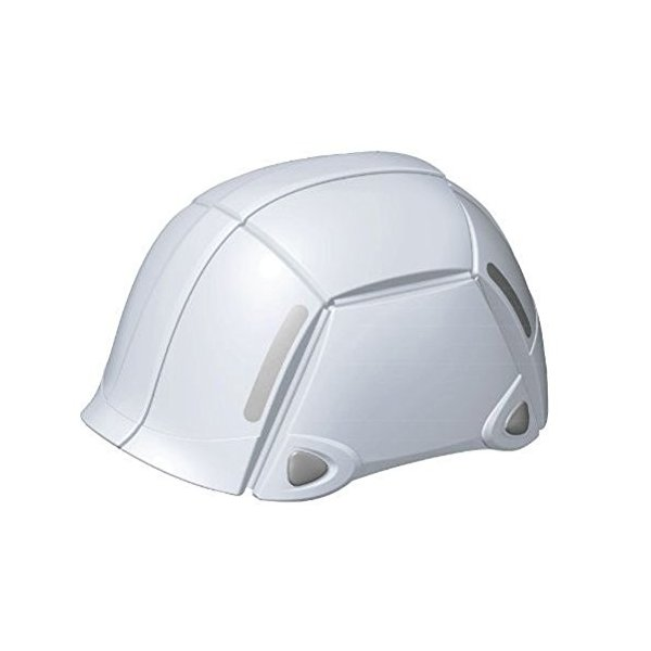 折りたたみヘルメット 防災ヘルメット TOYO トーヨーセフティー BLOOM ブルーム/ホワイト NO.100 4962087108412|whatnot