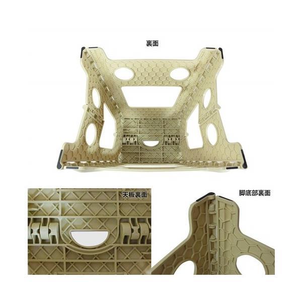 踏み台 折りたたみ ステップ台 収納 プラスチック踏み台 スツール WHATNOT 折りたたみチェア グレー 4962308970095 [astk][on]|whatnot|02