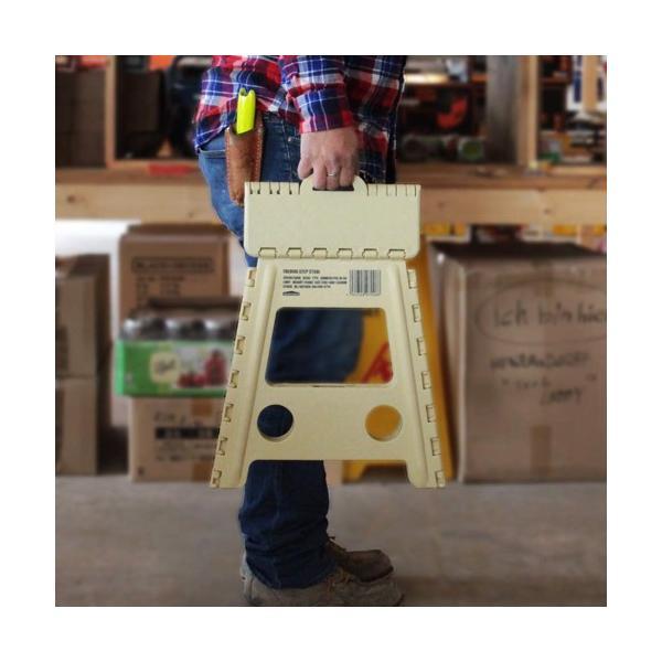 踏み台 折りたたみ ステップ台 収納 プラスチック踏み台 スツール WHATNOT 折りたたみチェア グレー 4962308970095 [astk][on]|whatnot|04