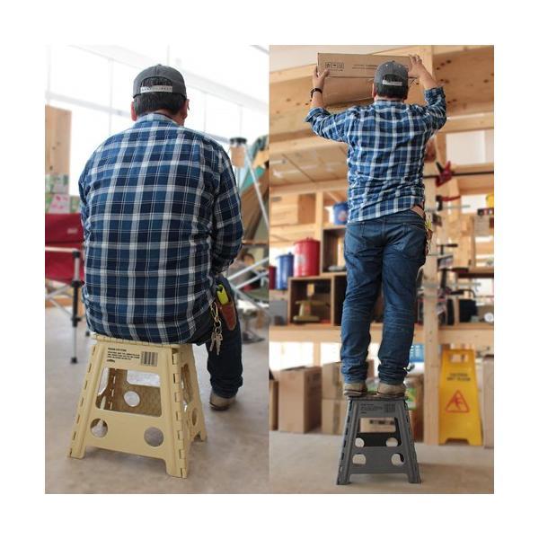 踏み台 折りたたみ ステップ台 収納 プラスチック踏み台 スツール WHATNOT 折りたたみチェア グレー 4962308970095 [astk][on]|whatnot|05