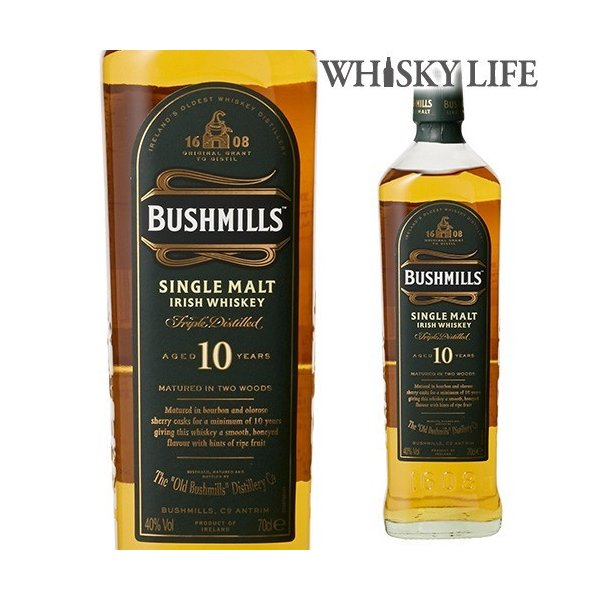 3/5〜7 P+2% ブッシュミルズ モルト 10年 700ml ウイスキー ウィスキー 長S