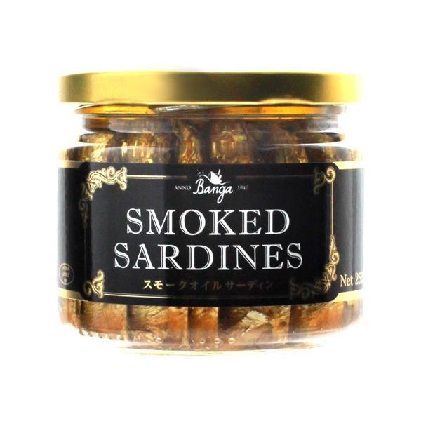 スモーク サーディン 瓶 バンガ 187g 単品販売 燻製 オイルサーディン いわし オイル漬け ラトビア 長S banga smoked sardines