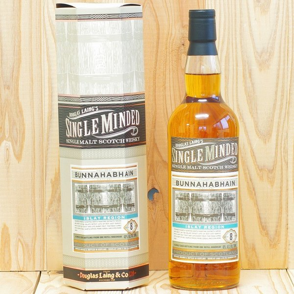 ブナハーブン 8年 シングルマインデッド 700ml 43度 箱付き ダグラスレイン ボトラーズウィスキー アイラ シングルモルト|whiskycojp