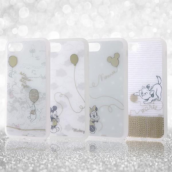 iPhone 7 用 ディズニー キャラクター / TPU ソフトケース メタルドローイング disney_y white-bang 02