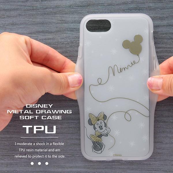 iPhone 7 用 ディズニー キャラクター / TPU ソフトケース メタルドローイング disney_y white-bang 03