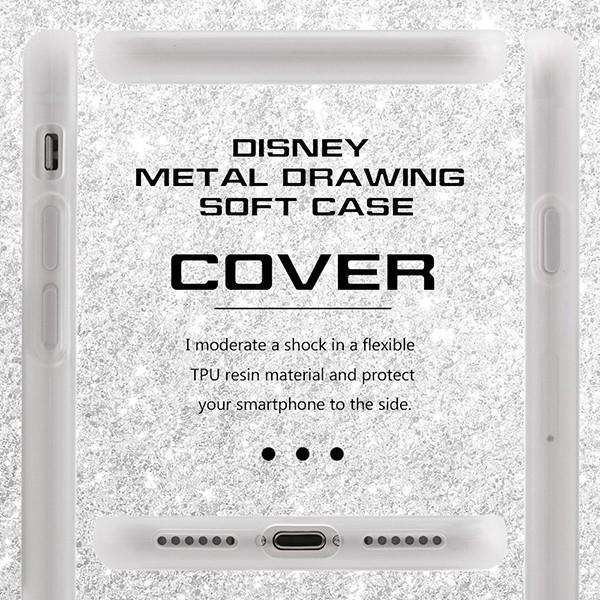 iPhone 7 用 ディズニー キャラクター / TPU ソフトケース メタルドローイング disney_y white-bang 04