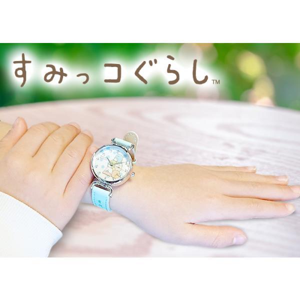 腕時計 キッズ 女の子 すみっコぐらし 1500 すみっこぐらし ウォッチ キャラクター グッズ 時計|white-bang|02