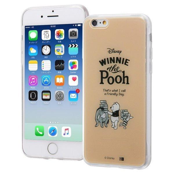 iphone6s ケース プーさん iphone6 ディズニー カバー キャラクター TPU+背面パネルの画像