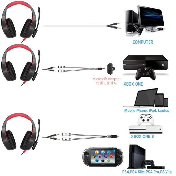ゲーミングヘッドセット ps4 xbox one s ヘッドセット ゲーミング ヘッドフォン PC/スマホ/ PlayStation4 xbox1 s switch 用 onikuma k1fps white-bang 03