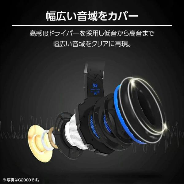 ゲーミングヘッドセット PS4 スイッチ SWITCH ヘッドセット ゲーミング ゲーム用ヘッドホン PC スマホ apex legends cod フォートナイト g2000 white-bang 07