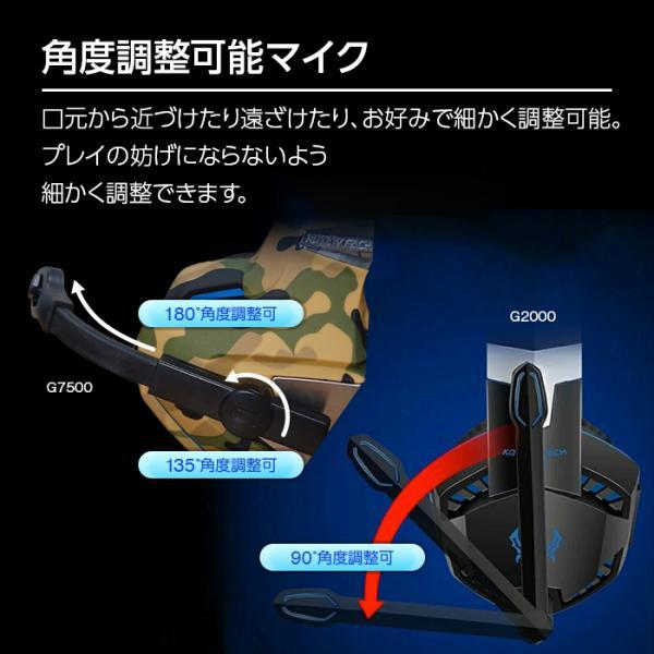 ゲーミングヘッドセット PS4 スイッチ SWITCH ヘッドセット ゲーミング ゲーム用ヘッドホン PC スマホ apex legends cod フォートナイト g2000 white-bang 08