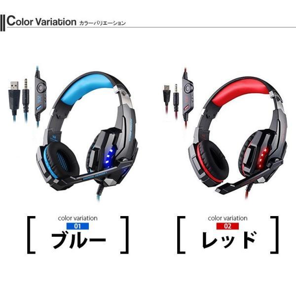 ゲーミングヘッドセット PS4 KOTION EACH ヘッドセット マイク ヘッドホン G9000 高集音性マイク LEDライト マイク位置360度調整可能 最高音質 white-bang 02