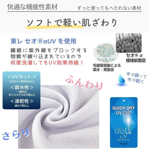 フェイスカバー C型 UVカット UV フェイスマスク マスク 息苦しくない レディース テニス ゴルフウェア 紫外線対策グッズ 日焼け防止 送料無料 White Beauty|white-beauty|06