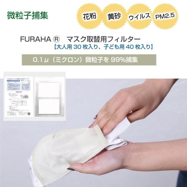 ふらは高性能 マスクフィルター 日本製 FURAHA ウイルス PM2.5マスク 花粉マスク (PFE) (VFE)  White Beauty|white-beauty|02