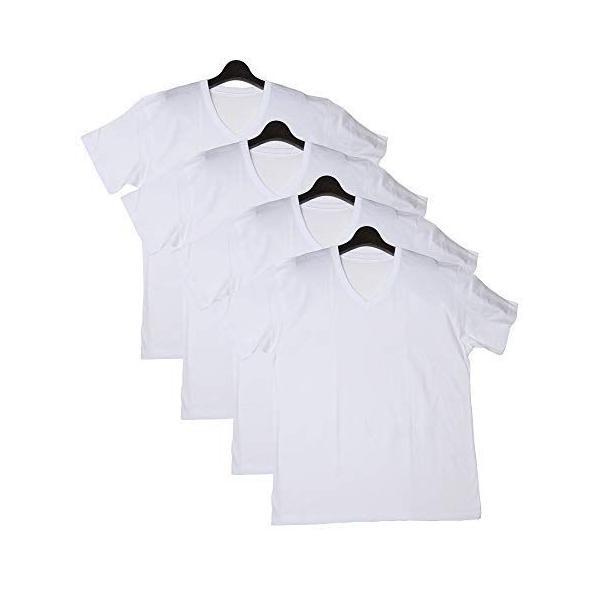 サカゼンPIMLICOTシャツ4枚セット大きいサイズメンズ3L?6L無地コットン綿100%Vネック半袖Tシャツ肌着