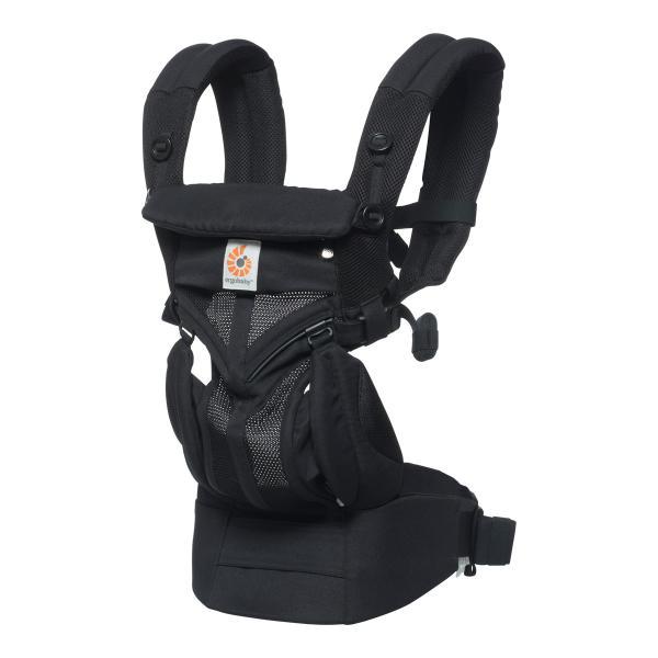エルゴベビー 抱っこひも OMNI(オムニ) 360クールエア ベビーキャリア ブラック CREGBCS360PBLK ベビーウエストベルト付き 正規品|whitebear-family|04