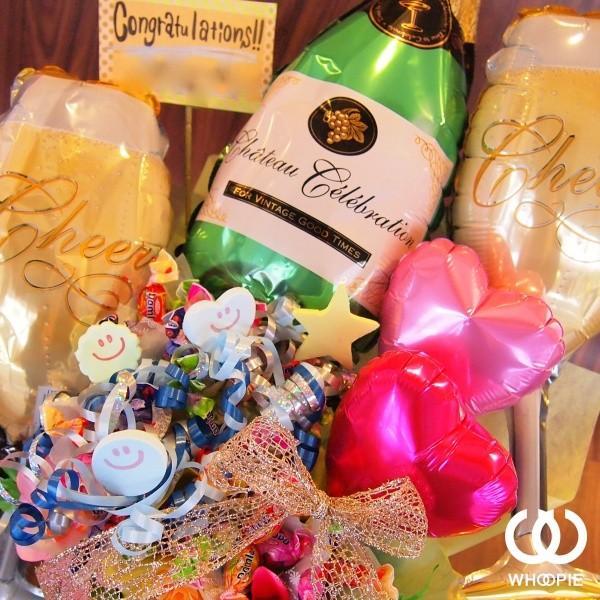 シャンパンボトル・キャンディブーケ「ピンクベース」|whoopie|02