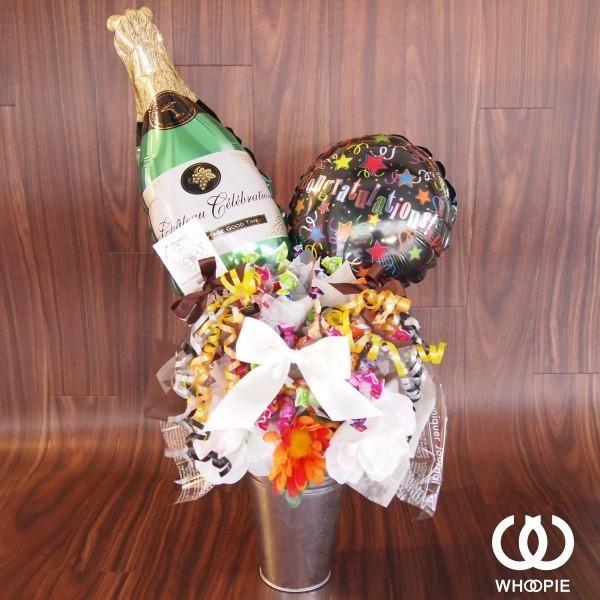 シャトーセレブレーションシャンパンボトルのお祝いキャンディブーケ