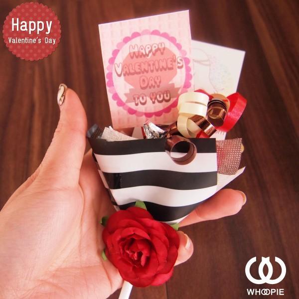 大量注文OK!バレンタインチョコレートブーケピックタイプミニ・ストライプ