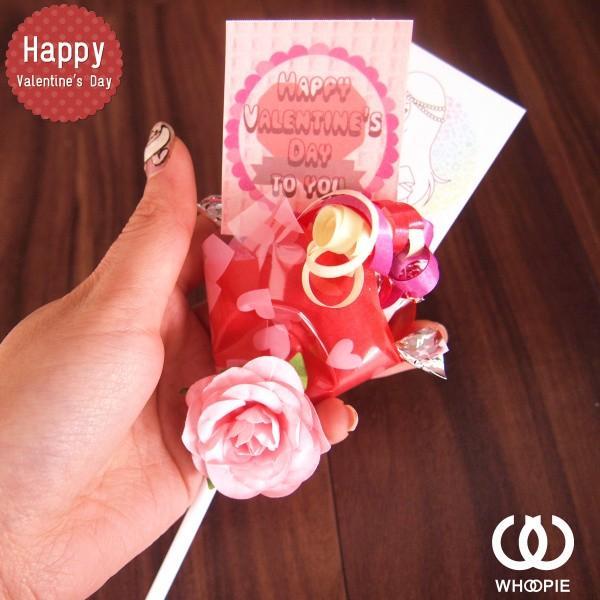 大量注文OK!バレンタインチョコレートブーケピックタイプミニ・ピンク