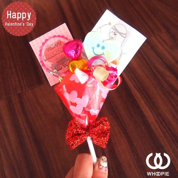 大量注文OK!バレンタインnicoピック付きチョコレートブーケピックタイプ・レッド