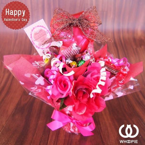 バルーン&リボン置き型バレンタインチョコレートブーケ