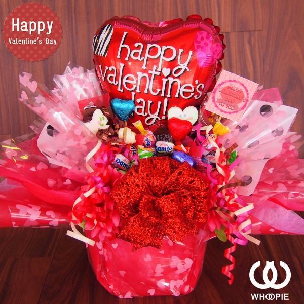 ハートいっぱい!置き型バレンタインチョコ&キャンディブーケアレンジ・ポップバルーン