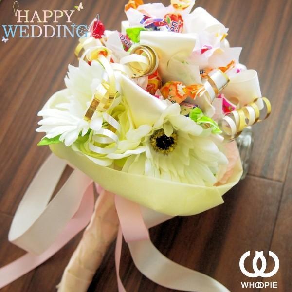 ウエディングブーケトス専用 お菓子の花束キャンディブーケ・ホワイト