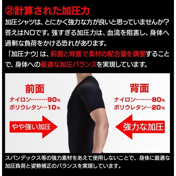 加圧シャツ メンズ 加圧下着 加圧インナー ダイエット コンプレッションウェア  Tシャツ 半袖 ハード  姿勢補正 猫背 wide02 19
