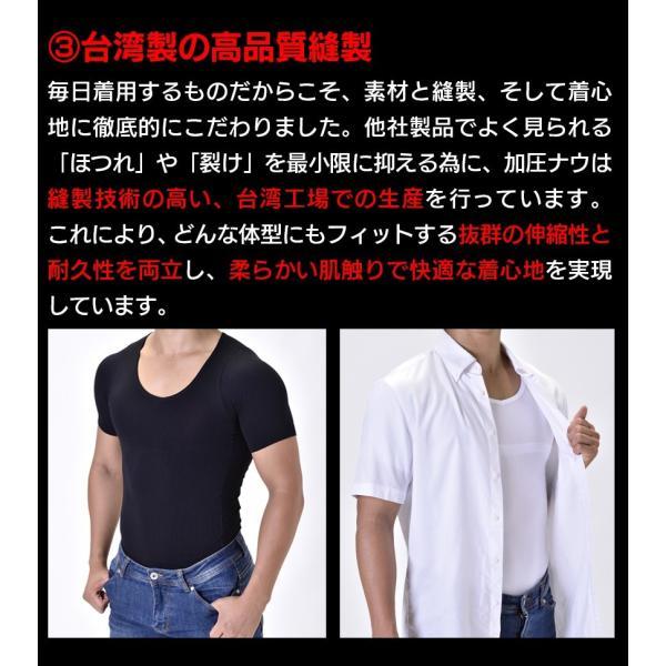 加圧シャツ メンズ 加圧下着 加圧インナー ダイエット コンプレッションウェア  Tシャツ 半袖 ハード  姿勢補正 猫背 wide02 20