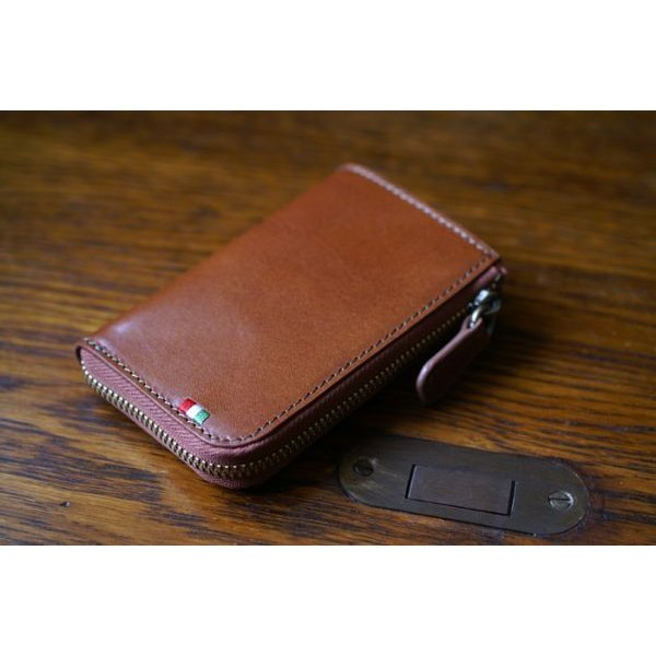 75123f5f9abc ... メンズ 財布 コインケース カードケース イタリアンレザー L字ファスナー コイン&カードケース ミラグロ ...