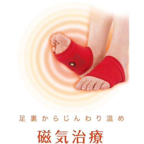 足裏サポーター 磁気サポーター 血行促進 磁気治療 管理医療機器 左右兼用2枚入り 温め 保温 コリ マグネッカー DX あたため 永久磁石|wide02|04