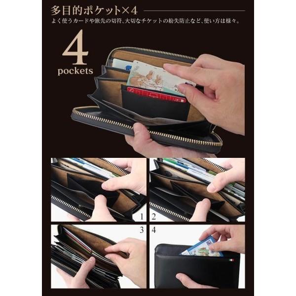 長財布 メンズ 本革 レザー 革 大容量 コインスルー ラウンドファスナー カード入れが多い ギャルソン財布 ブランド おしゃれ 敬老の日ギフト プレゼントに|wide02|05
