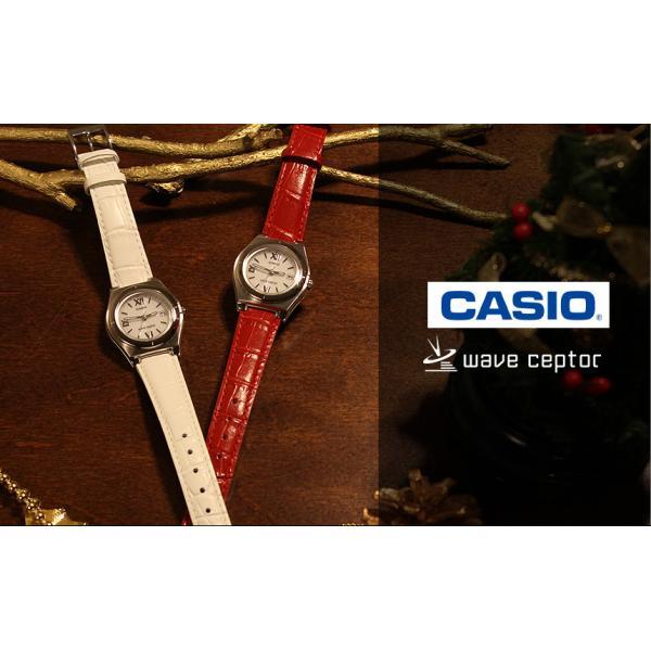 腕時計 レディース 電波ソーラー カシオ 軽い 軽量14.5g 電波時計 革ベルト おしゃれ 革バンド 本革 女性用 婦人用 5気圧防水 クリスマスプレゼント ギフト|wide02|03