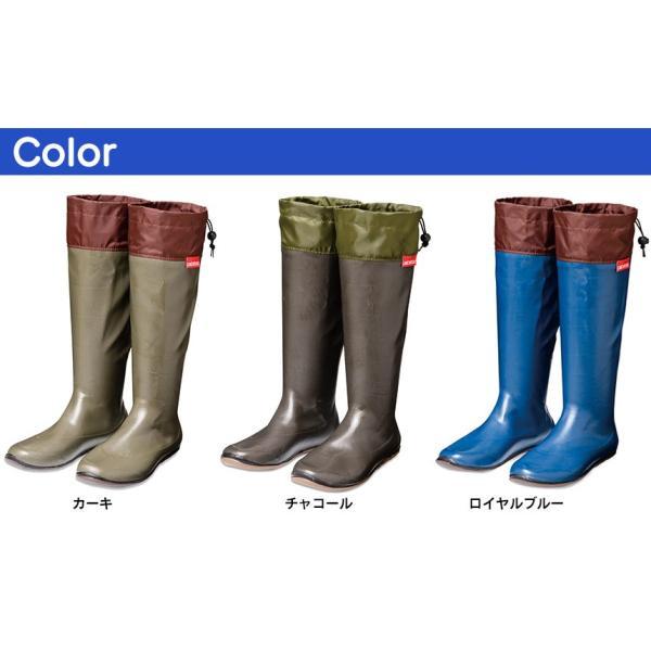 長靴 メンズ レディース アウトドア おしゃれ 農作業用長靴 たためる 折りたたみ 軽量 ロング 作業用 防水 携帯 ブランド アトム atom pokeboo ポケブー|wide02|05